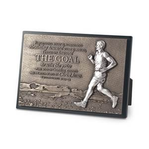 Runner Moments of Faith Plaque