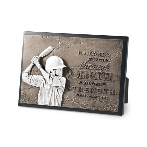 Baseball Moments of Faith Plaque plaque, bronze plaque, faith, sports gift, sports plaque,baseball,20757