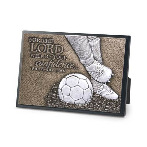 Soccer Moments of Faith Plaque