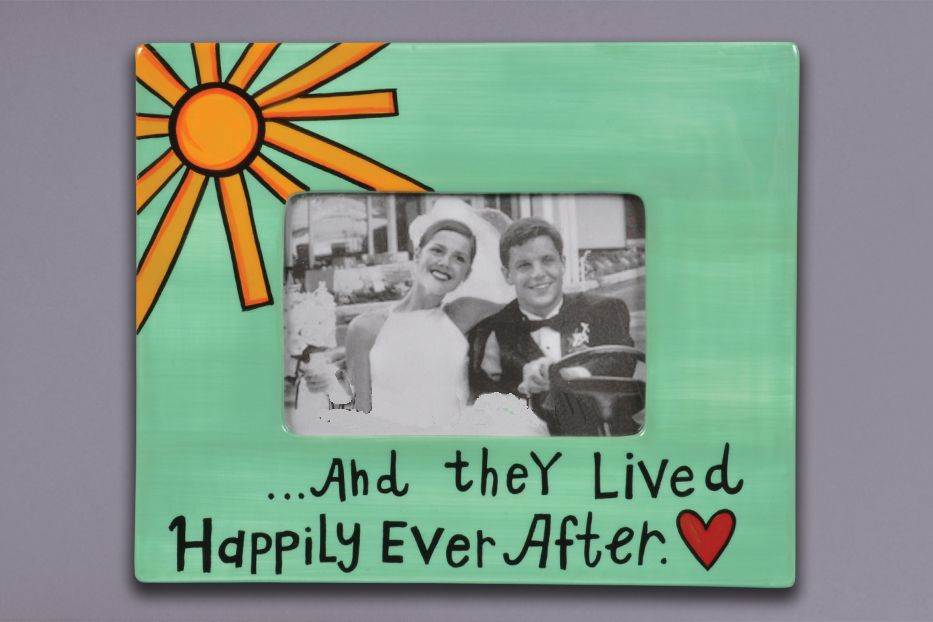 Happily Ever After Ceramic Frame