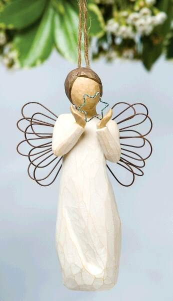 Willow Tree™ Bright Star Ornament willow tree ornament, tree decor, tree ornament, figure, angel figure, willow tree angel, 26178