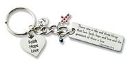 Faith, Hope, & Love Keychain