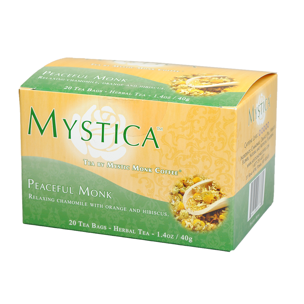 Mystic Monk Peaceful Monk Tea, 20 bags