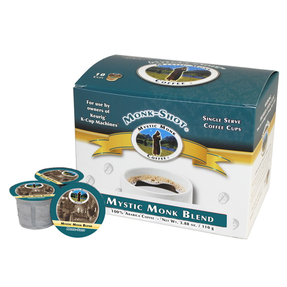 Mystic Monk Shots Mystic Monk Blend Single Serve Coffee, 10 ct.