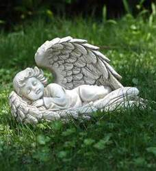 Lying Angel Statue in Wing