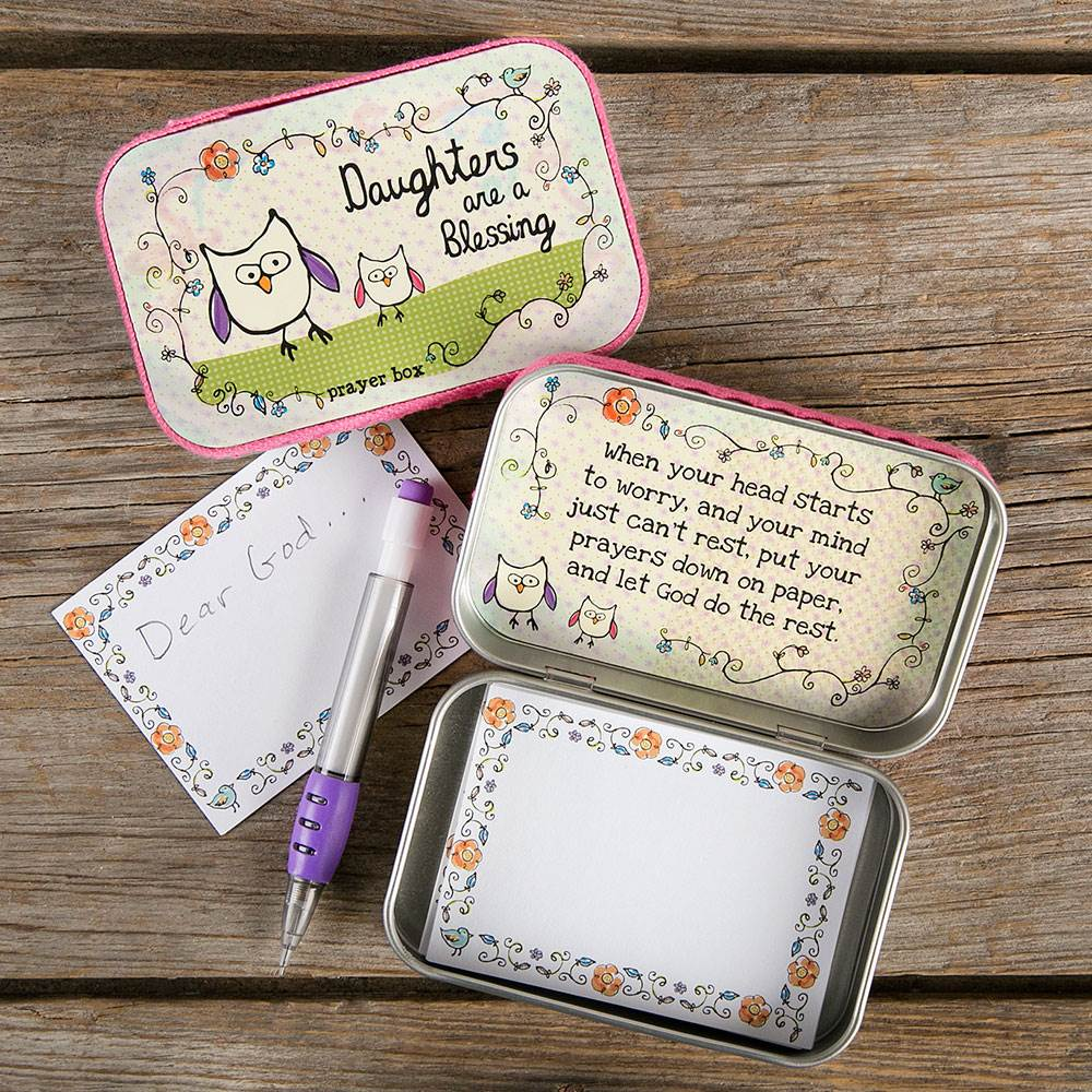 Daughters are a Blessing Tin Prayer Box