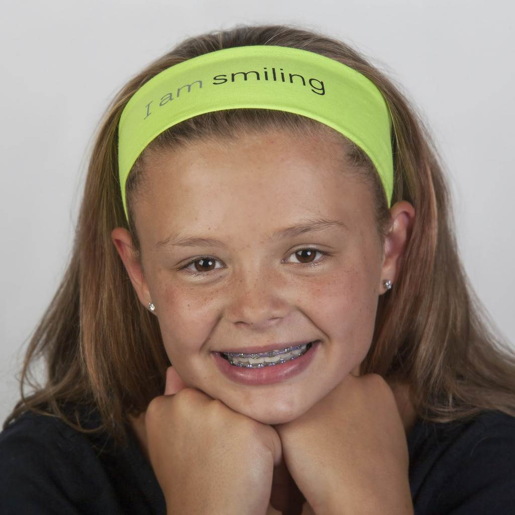 Inspirational Headbands I am smiling