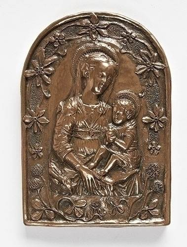 Madonna and Child Irish Plaque