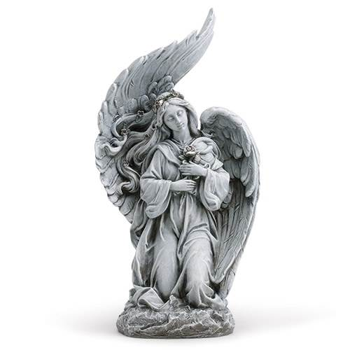 "13 1/2"" Kneeling Angel Statue"