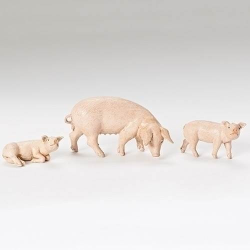 "5"" Scale Pig Family Fontanini Figurines"