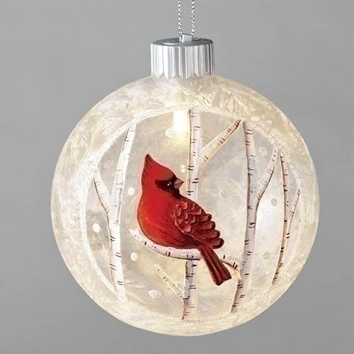 "4 3/4"" LED Cardinal Ornament"