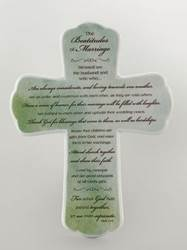 Beatitude of Marriage Wall Cross 10266,anniversary, wedding anniversary, cross, cross gift, porcelain cross,wall cross