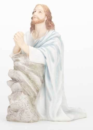 "7 1/4"" Jesus at Gethsemane Statue statue, colored statue, resin statue, home decor, church decor, figurine,jesus, praying in the garden, easter,42825"