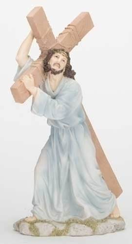 "12"" The Way of the Cross Statue statue, colored statue, resin statue, home decor, church decor, figurine,jesus, stations of the cross, 42877"