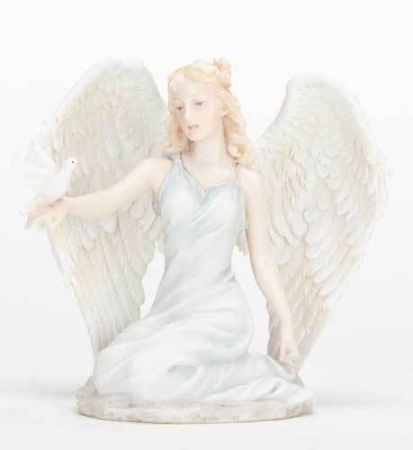 "5"" Kneeling Angel with Dove Statue"