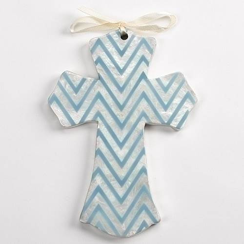 Blue Chevron Cross
