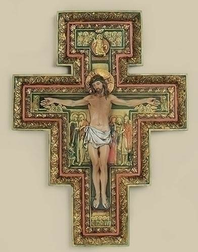 San Damiano Crucifix san damiano, cross, curcifix, wall cross, wall crucifix, home cross, church cross, 40702, joseph studio