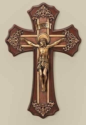 French Victorian Crucifix french victorian,  cross, curcifix, wall cross, wall crucifix, home cross, church cross, 42520, joseph studio