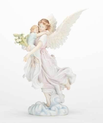 Angel with Child Statue