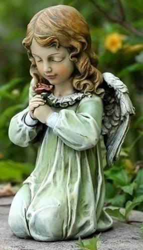 Angel Child Kneeling Statue