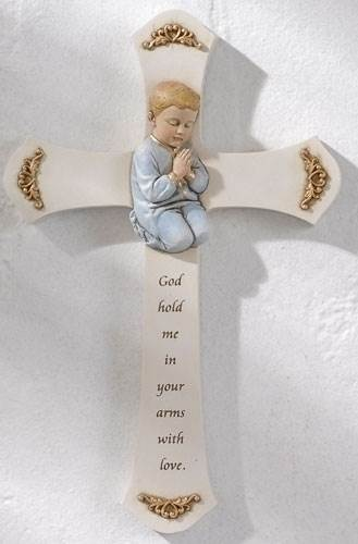 Boy Praying Wall Cross