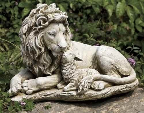 Lion and Lamb Statue