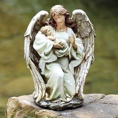 Angel with Baby Statue
