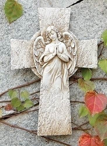 Angel Garden Wall Cross angel,  prayer angel, angel gift, memorial angel, comfort angel. angel statue, angel figure, wall cross,65972, healing angel, garden angel,joseph studio