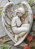 Sleeping Angel in Wings Garden Wall Plaque