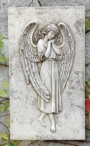 Angel Relief Wall Plaque angel,  prayer angel, angel gift, memorial angel, comfort angel. angel statue, angel figure, 65987, healing angel, garden angel,joseph studio