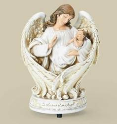 Arms of an Angel Musical baby gift, baptism gift, christening gift, sacramental gift, in the arms of an angel, musical, angel and baby figure, 66756
