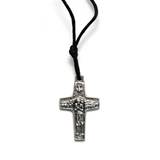 Pope Francis Metal Cross Necklace