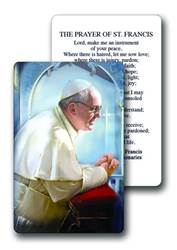 Pope Francis Laminated Prayer Card