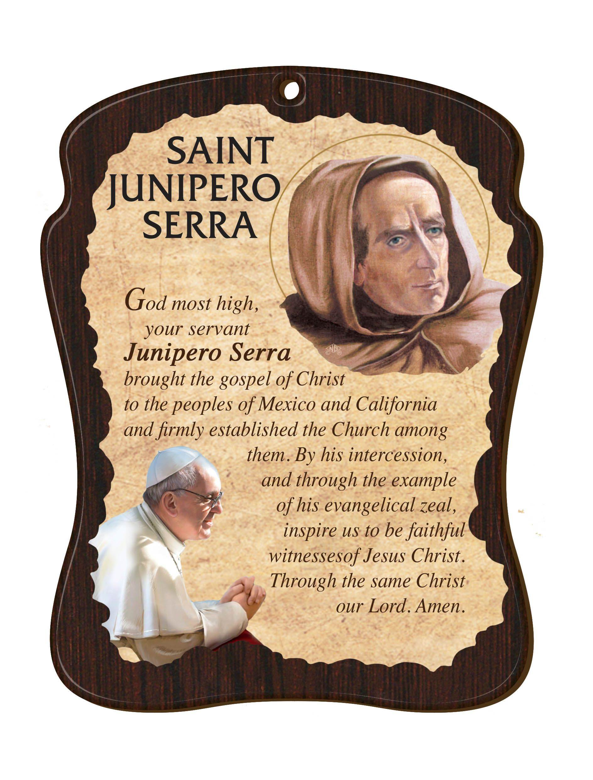 Saint Junipero Serra Wall Plaque
