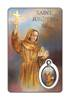 Saint Junipero Serra Laminated Prayer Card with Pendant