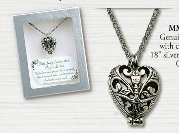 Heart Locket with Chalice Necklace