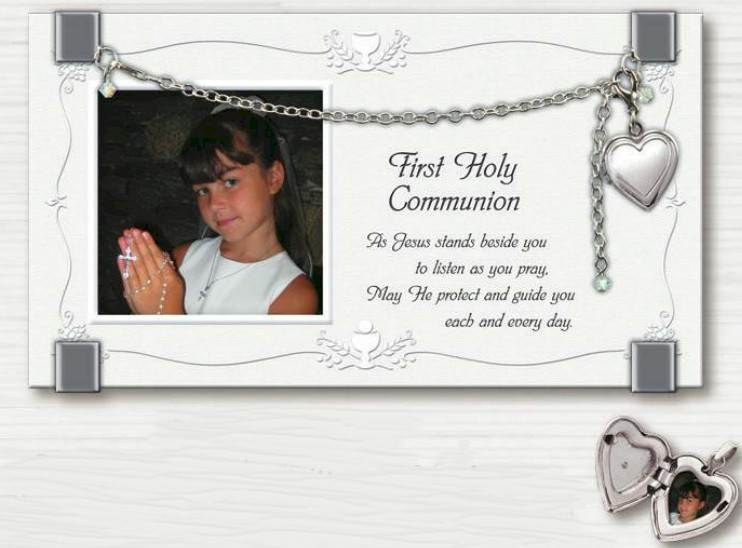 First Communion Frame with Locket