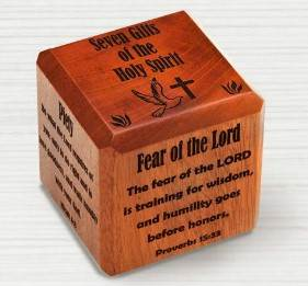 Confirmation Wood Cube