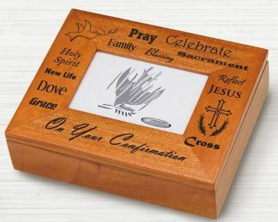 Confirmation Picture Frame Keepsake Box