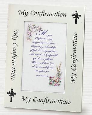 Confirmation Silver Frame
