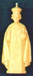 "4"" Infant of Prague Plastic Statue"