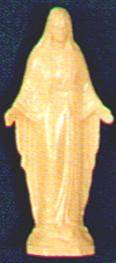 "4"" Plastic Our Lady of Grace Statue"