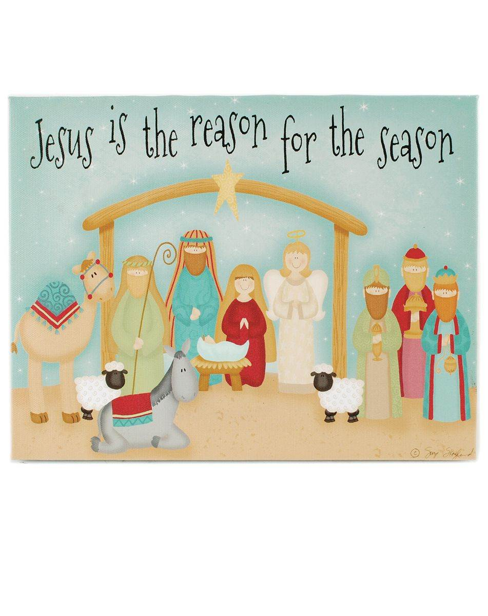 Jesus Is the Reason LED Nativity Wall Box Sign