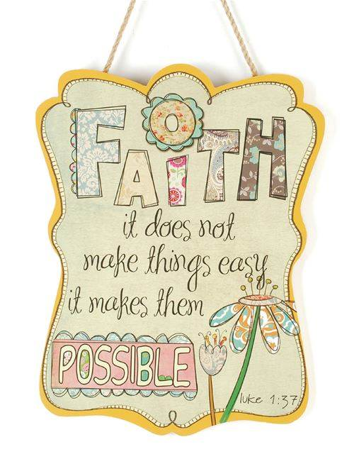 'Faith' Wall Hanging