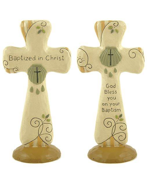 Assorted Standing Baptismal Crosses cross, assorted standing cross, baptismal cross, gift, child gift, adult gift, RCIA gift, 141-88186