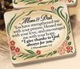 Mom & Dad Wood Plaque plaques, wood plaques, embossed, inspirational plaques, home decor, wall decor, desk decor, 2123