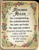 Kitchen Rules Wood Plaque plaques, wood plaques, embossed, inspirational plaques, home decor, wall decor, desk decor, 4120
