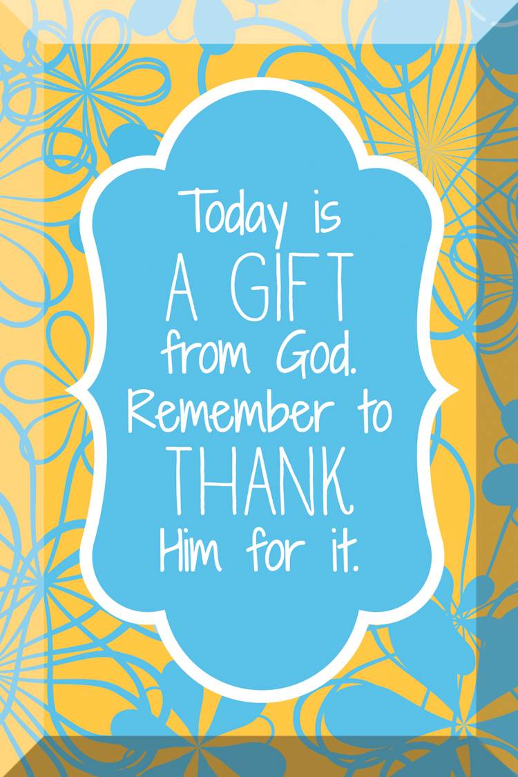 Today is a Gift Glass Plaque