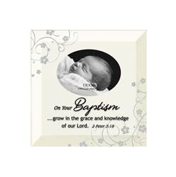 On Your Baptism Glass Photo Frame