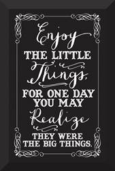 Enjoy the Little Things Glass Plaque